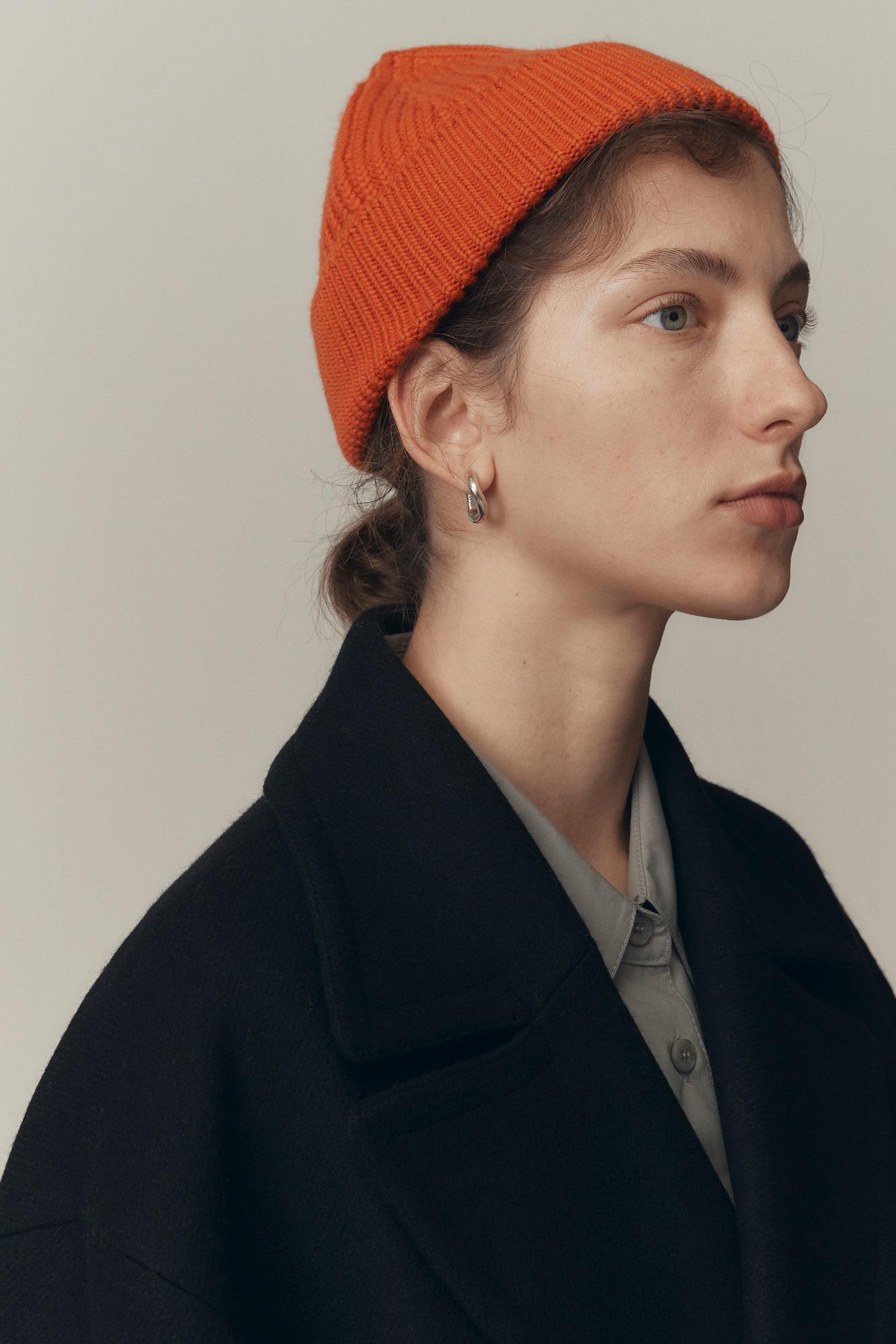 韩国设计师品牌LOW CLASSIC罗纹短款羊毛针织帽