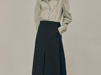 LOW CLASSIC 2020秋韩国设计品牌抽褶长袖翻领衬衣经典款衬衫三色