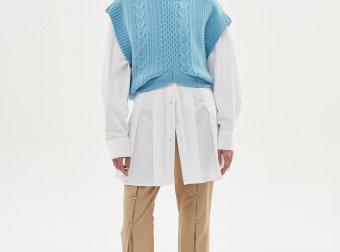 andersson bell 韩国设计师品牌20秋冬褶皱修身喇叭裤休闲裤