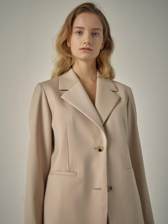 代购 FP 韩国设计师品牌20秋冬翻领羊毛基础款西服长袖西装外套上衣正品