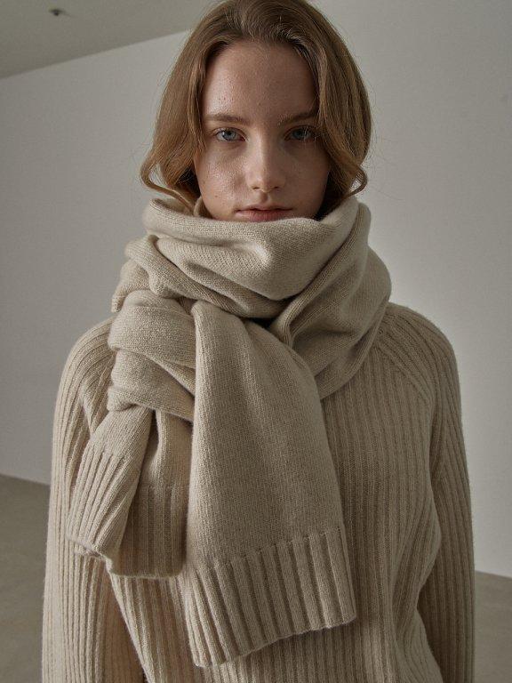 代购 FP 20秋冬 韩国设计师品牌 羊绒围巾4色柔软披肩直邮