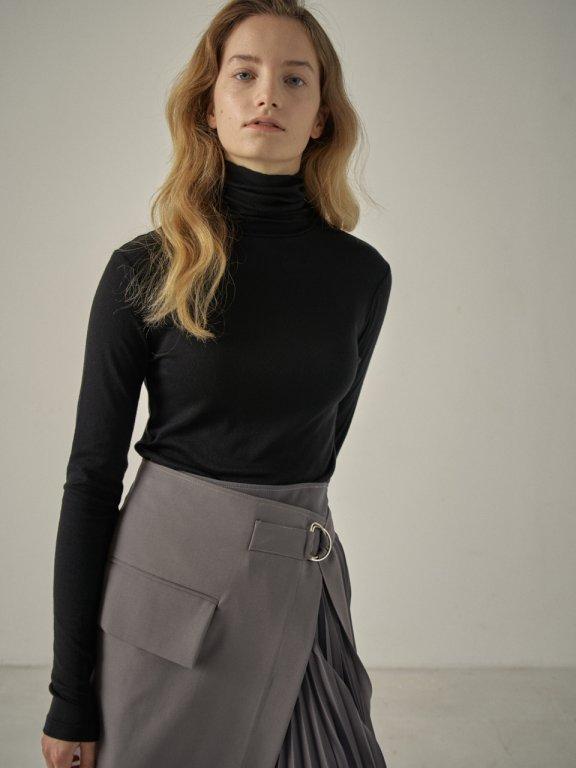 韩国设计师品牌FP 20秋冬高领修身长袖弹力打底衫上衣羊毛卷纯色