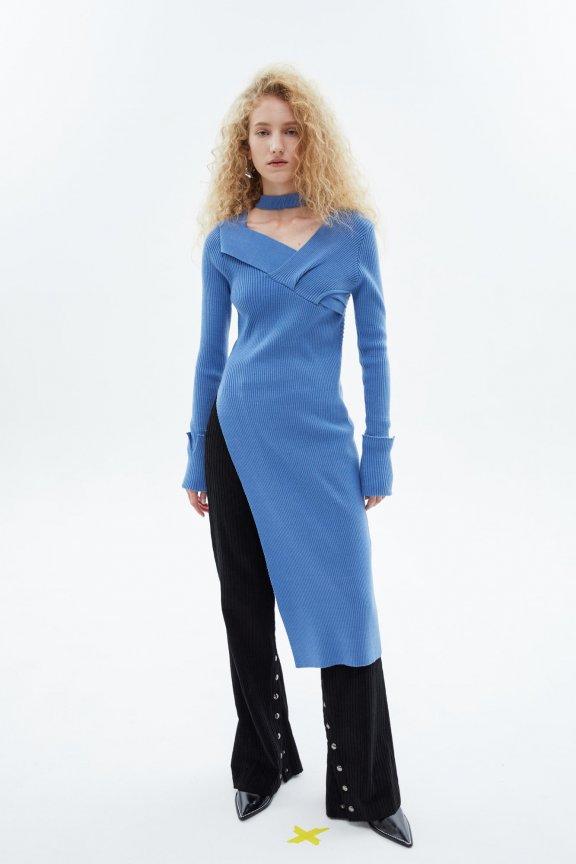 韩国设计师品牌ANDERSSON BELL20秋冬灯芯绒高腰阔腿长裤喇叭裤