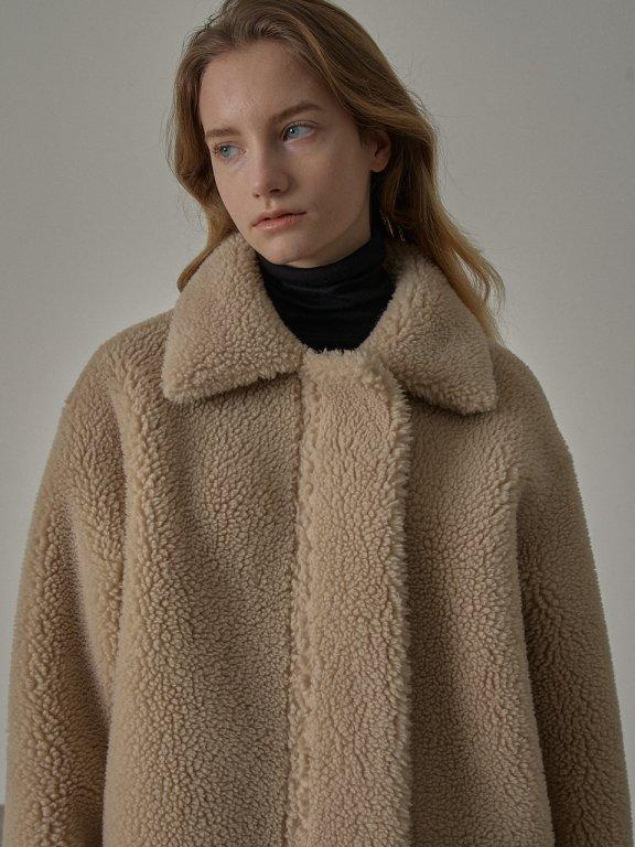 韩国设计师品牌 FP 20秋冬短款加厚正反两穿皮毛外套上衣直邮