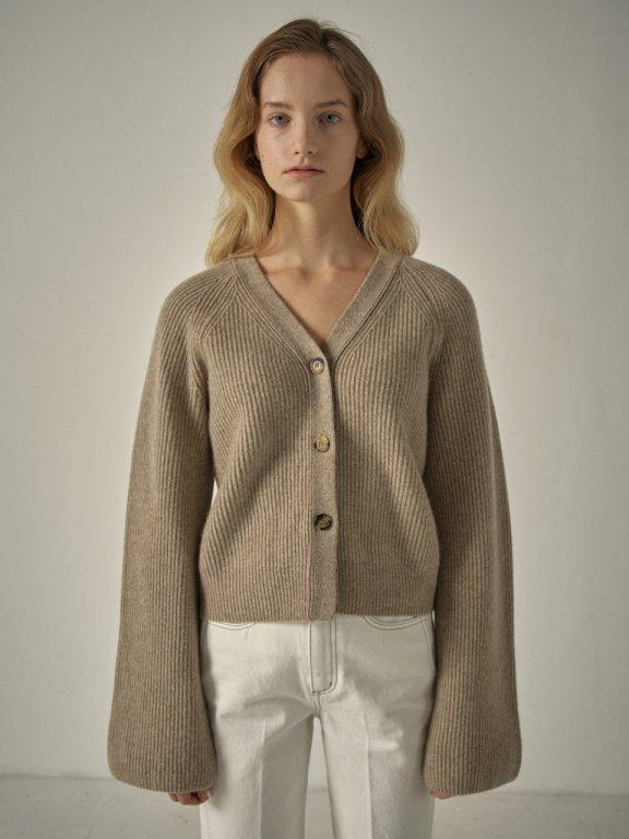 韩国设计师品牌 FP 20秋冬V领短款针织开衫毛衣外套上衣三色正品代购