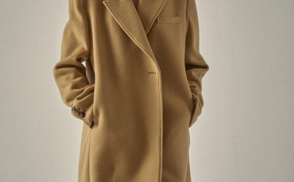 代购 FP 韩国设计师品牌 20秋冬 单扣腰带款翻领羊绒大衣外套燕麦粉