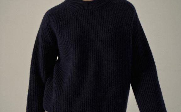 代购 FP 韩国设计师品牌20秋冬圆领长袖针织衫套头毛衣羊驼毛上衣