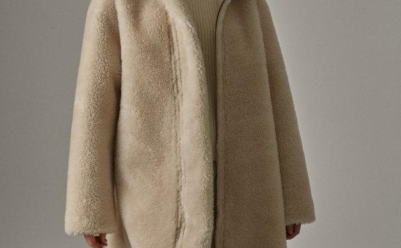 韩国设计师品牌 FP 20秋冬正反两穿环保皮毛绒加厚长款大衣外套直邮