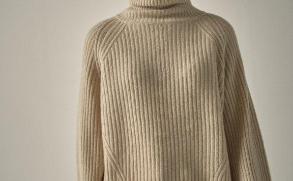 韩国设计师品牌FP 20秋冬高领长袖宽松针织衫套头毛衣上衣正品代购