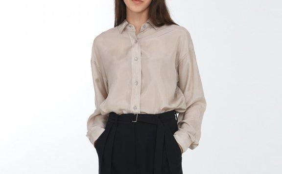 正品代购韩国设计师品牌Dunst 2021春款休闲宽松长袖衬衫