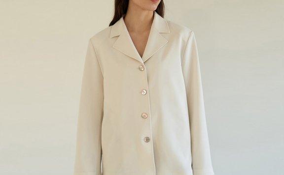 2021春款韩国设计师品牌MOHAN西装领单排扣腰带款衬衫正品直邮