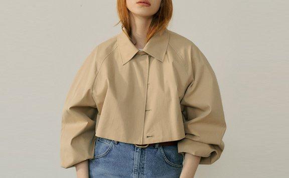 EN OR 2021春夏 韩国设计师品牌复古风可拆卸两件套系带风衣外套