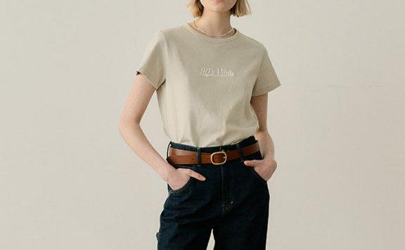 EN OR 2021春夏款韩国设计师品牌简约百搭圆领短袖T恤上衣正品