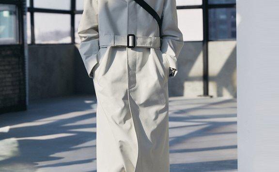 Dunst韩国设计师品牌21春款可拆分风衣宽松中长款外套正品代购