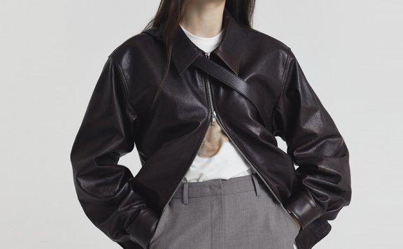 韩国设计师品牌Dunst 2021春款小羊皮皮衣夹克外套男女同款正品