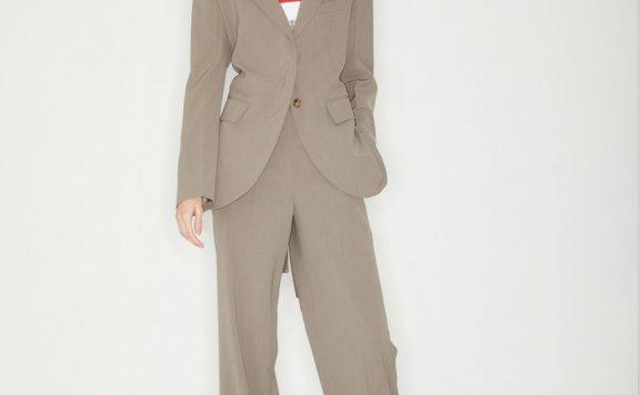 正品代购Haekim韩国设计师品牌21SS春款后背弹力收腰带西装外套