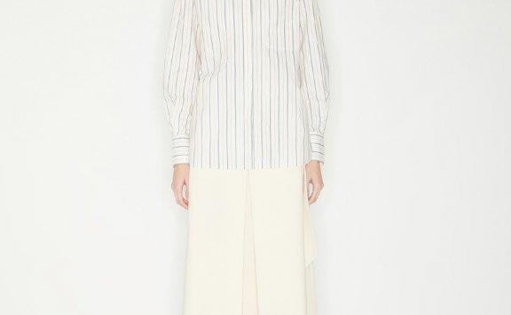 正品代购韩国设计师品牌Haekim 21SS春款休闲百搭条纹长袖衬衫