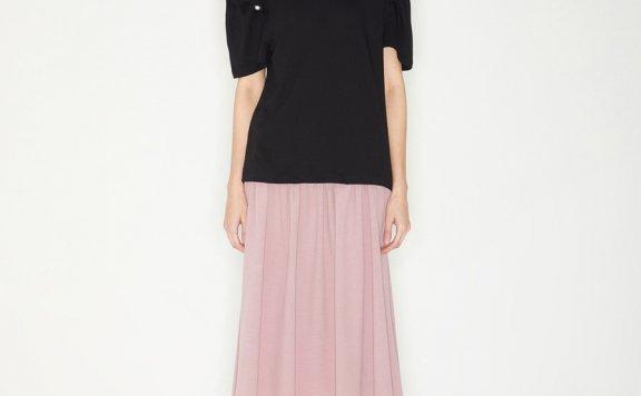 韩国设计师品牌Haekim 21SS春款法式珍珠泡泡袖上衣T恤正品直邮