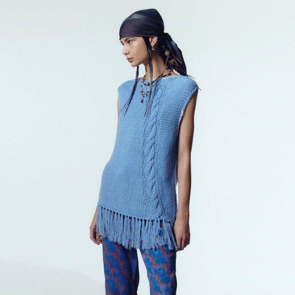 韩国设计师品牌andersson bell 2021春款手工编织午休针织套衫