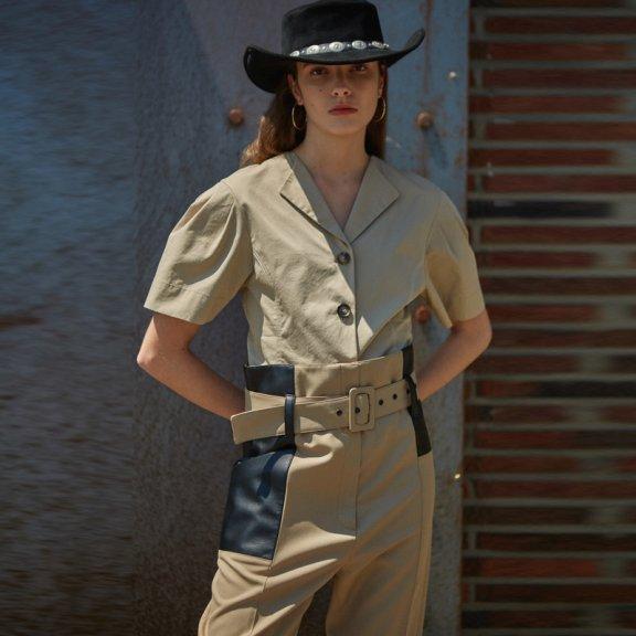 andersson bell韩国设计师品牌2021春款宽袖短衬衫上衣正品直邮