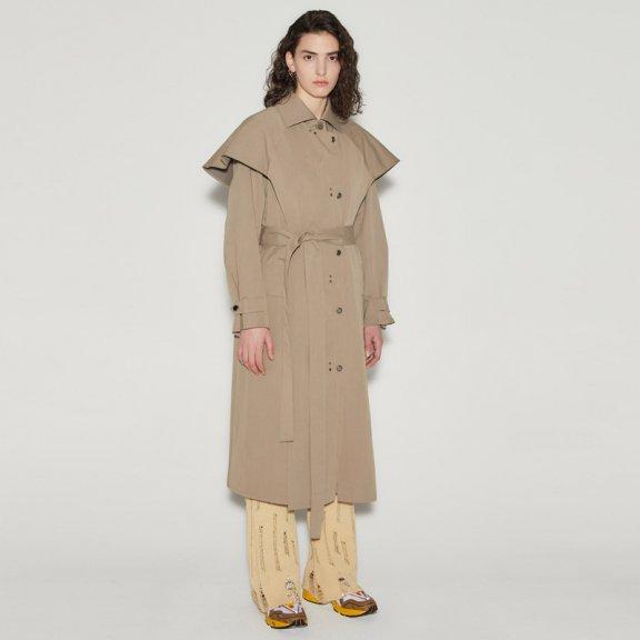 andersson bell韩国设计师品牌2021春款层次感腰带款风衣外套正品