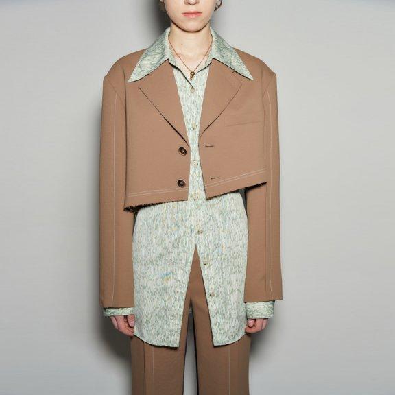 2021春款andersson bell 韩国设计师品牌不规则长袖短款西装外套