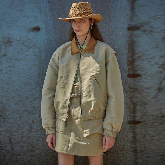 韩国设计师品牌andersson bell 2021春款小翻领夹克外套正品直邮
