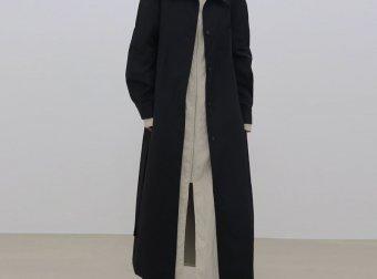 Treemingbird韩国设计师品牌2021春夏款单排扣腰带长款风衣外套