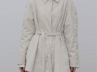 treemingbird韩国设计师品牌2021春夏款简约设计翻领系带短款外套