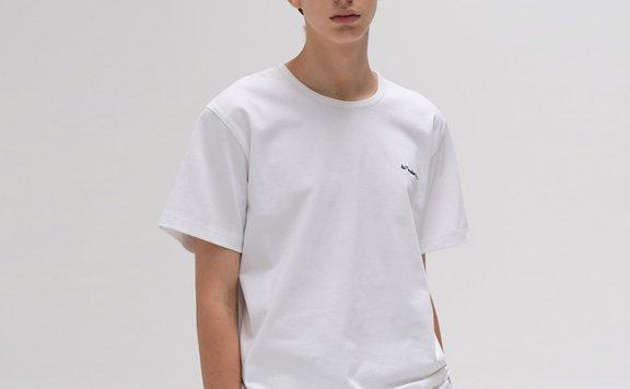 韩国设计师品牌LE 17 SEPTEMBRE 2021春款纯棉圆领短袖T恤直邮
