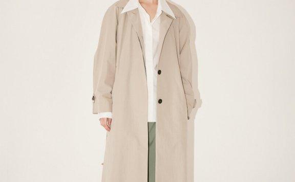 MUSEE 韩国设计师品牌2021春夏款 OVERSIZE腰带长款风衣正品直邮