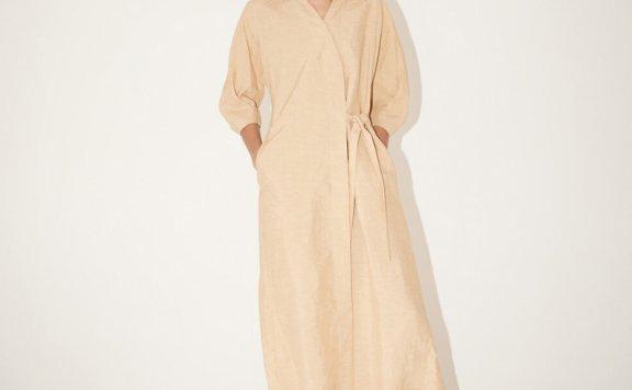2021春夏款MUSEE韩国设计师品牌简约宽松系带衬衫连衣裙正品直邮