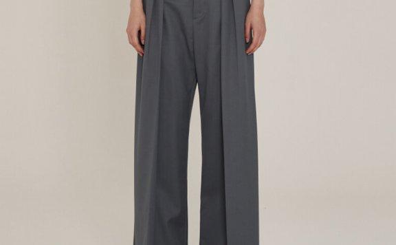 MUSEE 2021春夏款韩国设计师品牌正品纯色通勤阔腿裤西裤直邮