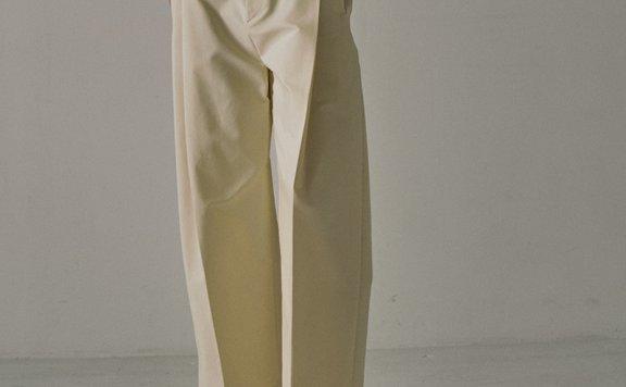 21春夏款facade pattern韩国设计师品牌纯色简约百搭直筒九分裤