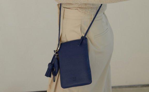 正品代购H8韩国设计师品牌2021春夏迷你单肩斜挎包牛皮手机包直邮