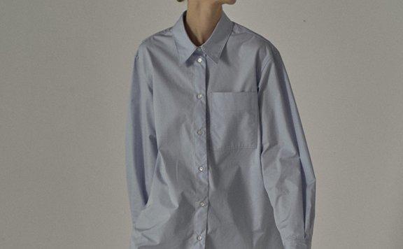facade pattern 21春夏款韩国设计师品牌简约纯色宽松长袖衬衫