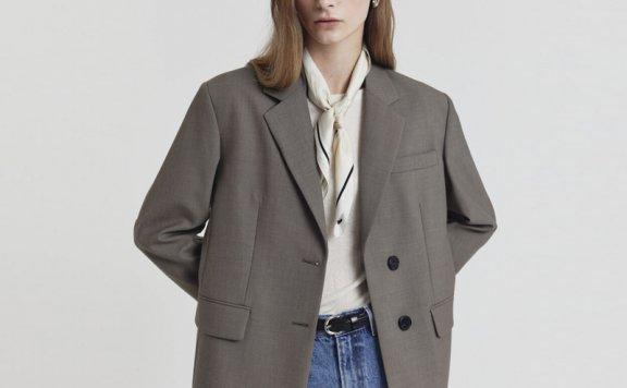 正品代购DUNST韩国设计师品牌2021春夏款时尚百搭两粒扣西装外套