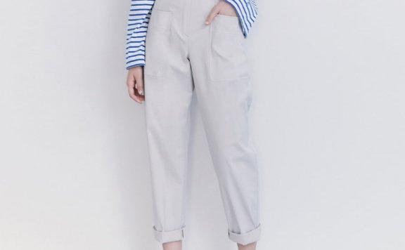 韩国设计师品牌kuho plus 2021春夏款束腰带百搭休闲裤正品直邮