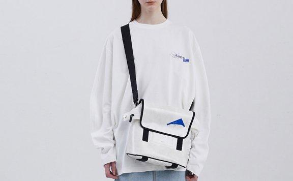 ADER ERROR韩国设计师品牌2021春款棉质徽标宽松长袖T恤男女款