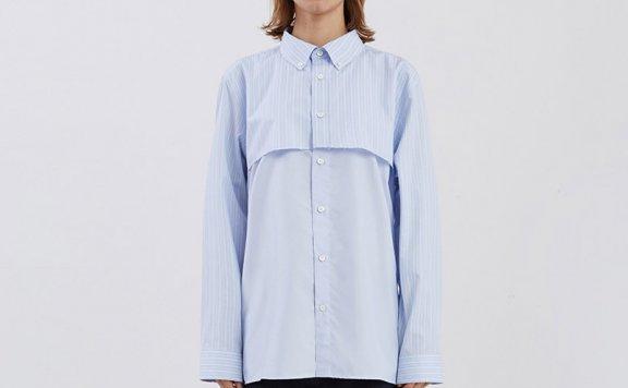 ADER ERROR韩国设计师品牌2021春款纯棉格纹分层衬衫男女款正品