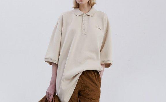 ADER ERROR韩国设计师品牌2021春款棉质双层领短袖POLO衫正品直邮