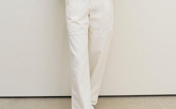 正品代购韩国设计师品牌GROVE 2021春款纯棉休闲显瘦直筒长裤