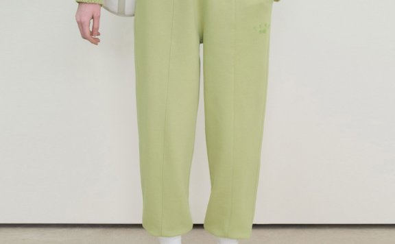 韩国设计师品牌GROVE 2021春款直筒休闲束口运动裤长裤正品直邮