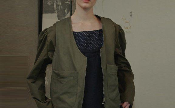 正品代购韩国设计师品牌vocavaca 2021春款两面穿后系带夹克外套