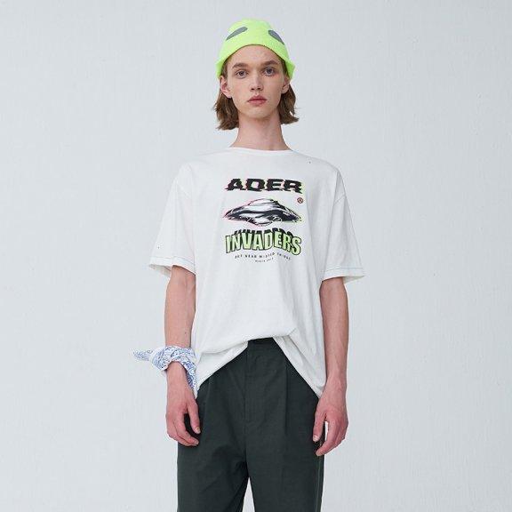 正品ADER ERROR韩国设计师品牌 20夏款太空飞船宽松显瘦短袖T恤