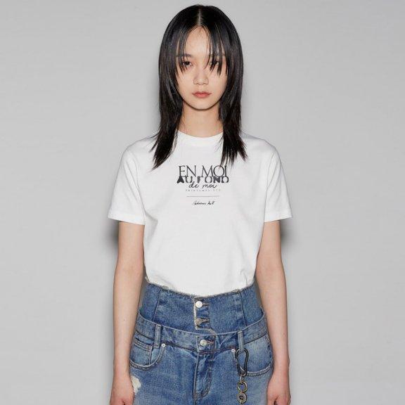 正品anderssonbell 韩国设计师品牌 21春夏EN MOI印花宽松短袖T恤