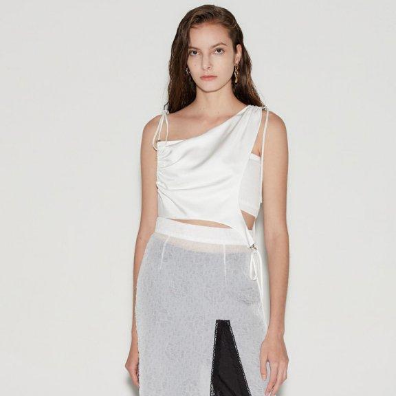 正品代购anderssonbell 韩国设计师品牌 21春夏 个性设计吊带上衣