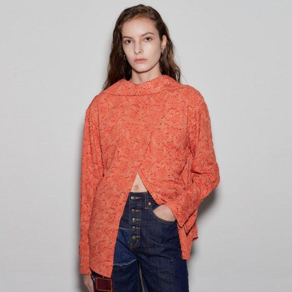 anderssonbell 韩国设计师品牌 21春夏背面宽领反向设计衬衫正品