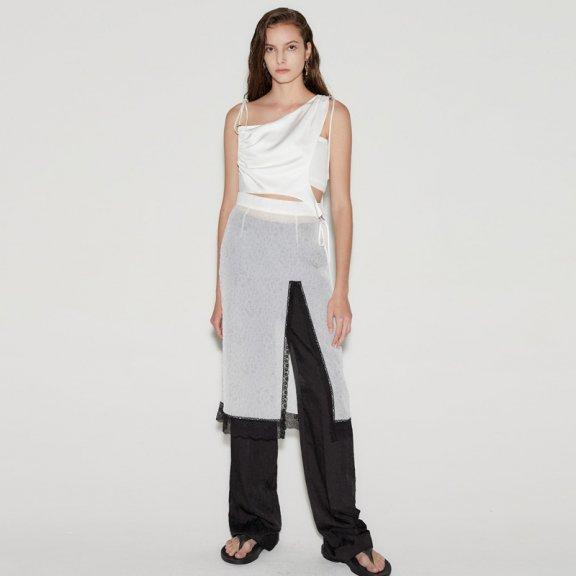 anderssonbell 韩国设计师品牌 21春夏 高腰褶皱直筒裤长裤正品