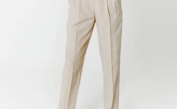 HAE BY HAEKIM 韩国设计师品牌 21春夏 高腰褶皱直筒休闲裤长裤